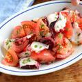 夏らしいさっぱりおかず。たことトマトの刻み大葉マリネ