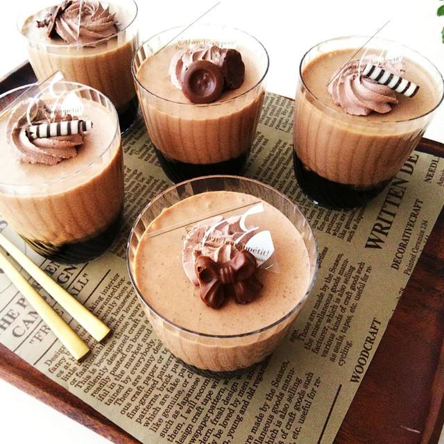 チョコレートムース&コーヒーゼリーのカップデザート