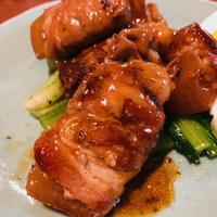 肉巻き大根の甘辛煮~サッと茹でた小松菜にタップリのせて旨みまるごといただきましょ(#^.^#)♪
