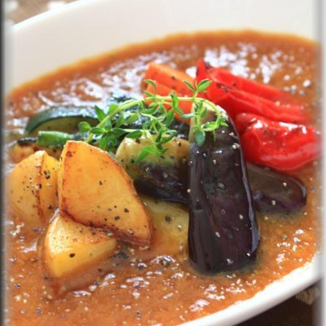 揚げ焼き野菜のとろみスープカレー