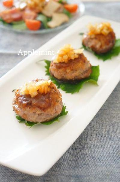 【モニター】ボーソー米油で椎茸の肉詰め照り焼き玉ねぎソース添え