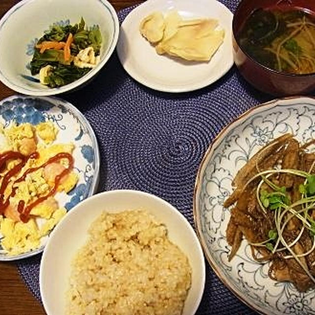 ゴボウと豚肉の味噌炒め&嬉しいプレゼント(^^