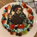 我が家のクリスマスパーティー★炭治郎ケーキでお祝い