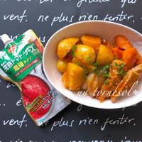 デルモンテの完熟トマトソースで‼︎美肌効果に❤︎トマトソースde洋風肉じゃが♡レシピ