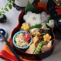 花おにぎりと鯖の塩焼き弁当~Flower rice ball &Salt-grilled Mackerel