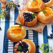 甘酸っぱい季節のフルーツで、びっくりパン