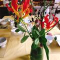 今週のテーブル装花