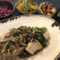 フライパンで簡単!すき焼き風ひき肉豆腐