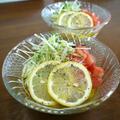レモンが効いてるサラダ素麺♪