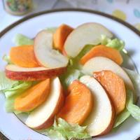 爽やか!【柿と林檎のフルーツサラダ】#ボスコシーズニングオイル#簡単レシピ