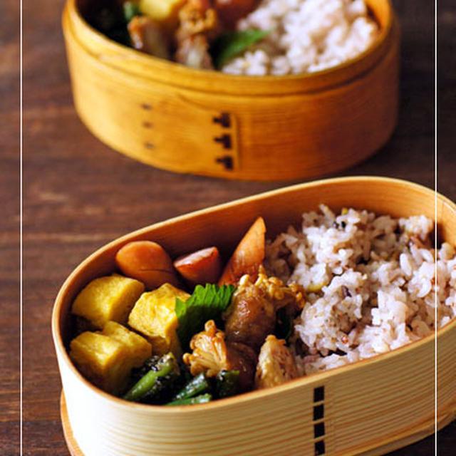 エノキ豚の生姜焼き弁当