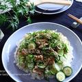 サバ缶と香味野菜の夏ちらし寿司