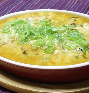 14/09/20 豆腐とキムチのレンジ蒸し