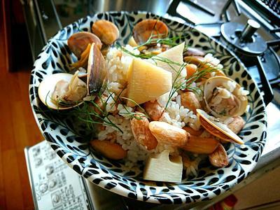千葉の恵み満載炊き込みごはんは『落花生と蛤と浅利と筍の炊き込みごはん』