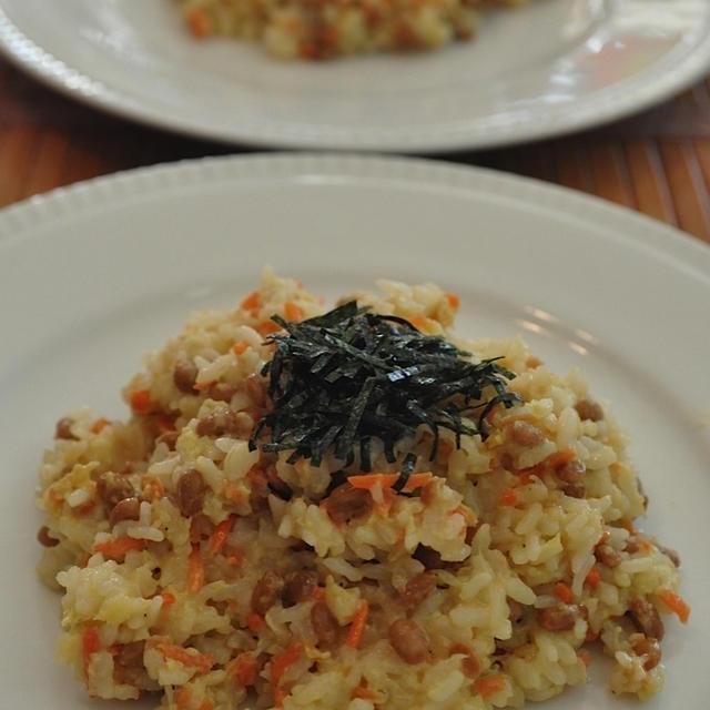 リゾット風納豆シラス炒飯