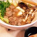 レシピブログ.モニター参加中 鍋!トップバリューセレクトとんこつ醤油鍋つゆで豚挽きゴボウ団子と旬の野菜とキノコたっぷり鍋