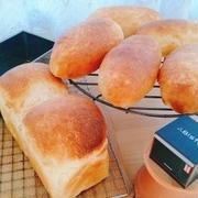 白ねり胡麻のコッペパン・ミニ食パン♪