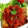 サバのガーリックトマトソース