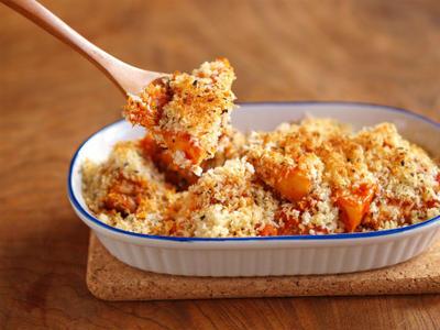筍と鶏のバジルパン粉焼き