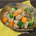 揚げ豚小間ボールと野菜の煮物