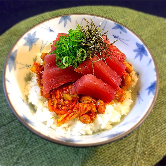 豪快!海鮮キムチ納豆丼
