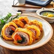 【料理王レシピ②】カリカリパスタの彩り巻き~かぶのおろしあんかけ~