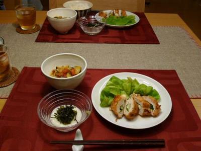 本日の晩御飯☆鶏胸肉のチーズフライ