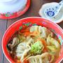 1皿で満足♪キャベツたっぷりふわふわスープ餃子★連載更新