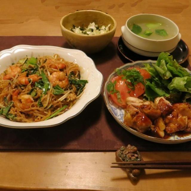 タイ焼きそばなどアジアンな晩ご飯 と ternの折りたたみ自転車♪