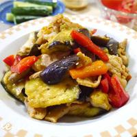 夏野菜たっぷり!茄子と豚肉の味噌炒め
