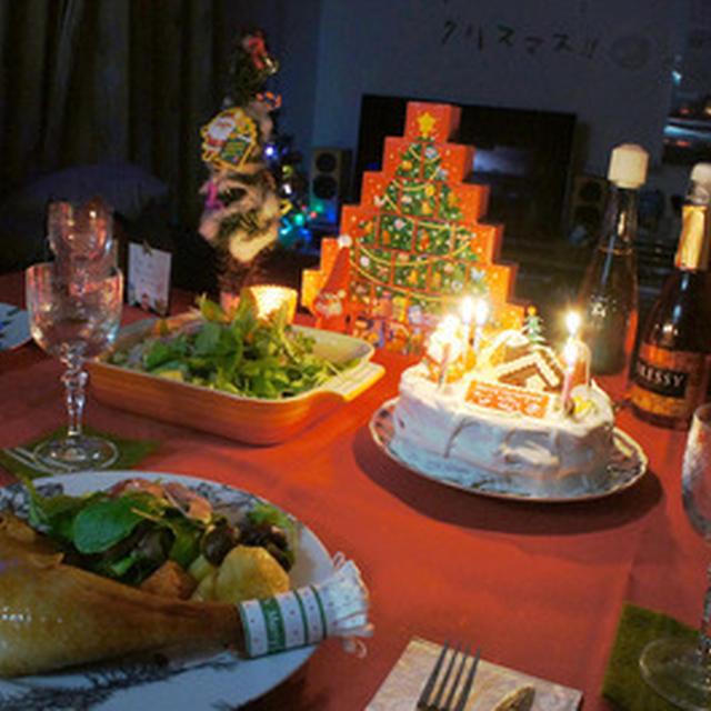 2012年クリスマス料理 - 鶏ローストチキンとクリスマスケーキ