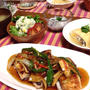 タレが絶品‼︎カレイの野菜たっぷり甘辛あんかけ♡ポテトサラダ♡