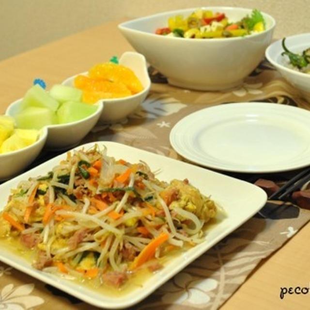 ☆沖縄の味を再現!?美味しいチャンプルー5日夜ご飯☆