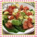 アボカド・豆腐・トマトの胡麻ポンダイエットサラダ