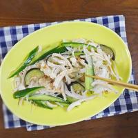【熱中症対策のダイエットレシピ】しっとり鶏むね肉と夏野菜のおかか梅醤油和え