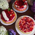 ラズベリームース、ベリーレアチーズケーキ