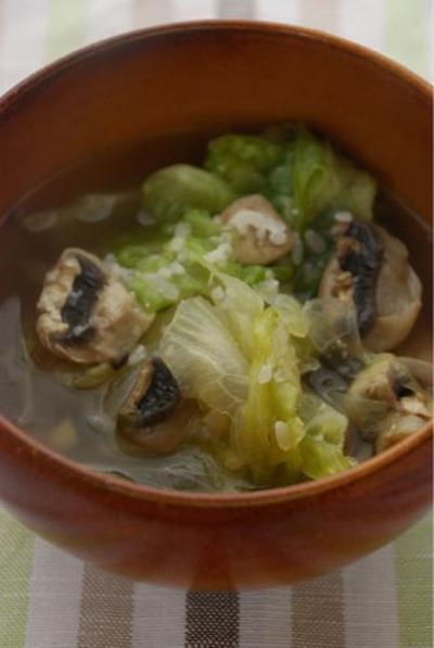 いきいき掲載☆レタスとマッシュルームの塩麹スープ