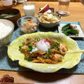 【むね肉de鶏キムチ納豆】#むね肉#腸活#免疫力アップ#簡単#スピードおかず …晩ごはんと朝ごはん。