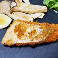 寒風干し塩銀鮭はらみでパン粉焼きディナー!