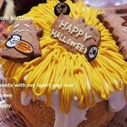 ハロウィンパンプキンクリームケーキ
