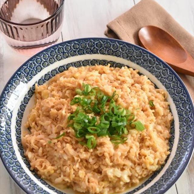 さくっと作れる!漢飯レシピ「茹でたら完成!「チキンラーメン雑炊」」