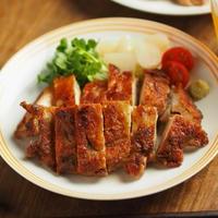 メシ通!鶏もも肉の塩辛焼き、鶏もも肉のアンチョビ焼き
