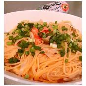 ねり梅×たらこスパゲッティ