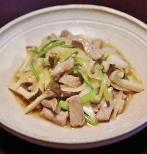 豚ヒレ肉の野菜炒め