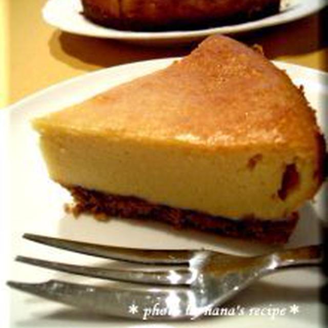 フープロでベイクドチーズケーキ