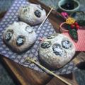 正月用パンに☆煮汁入り♪黒豆甘煮コッペパン作り