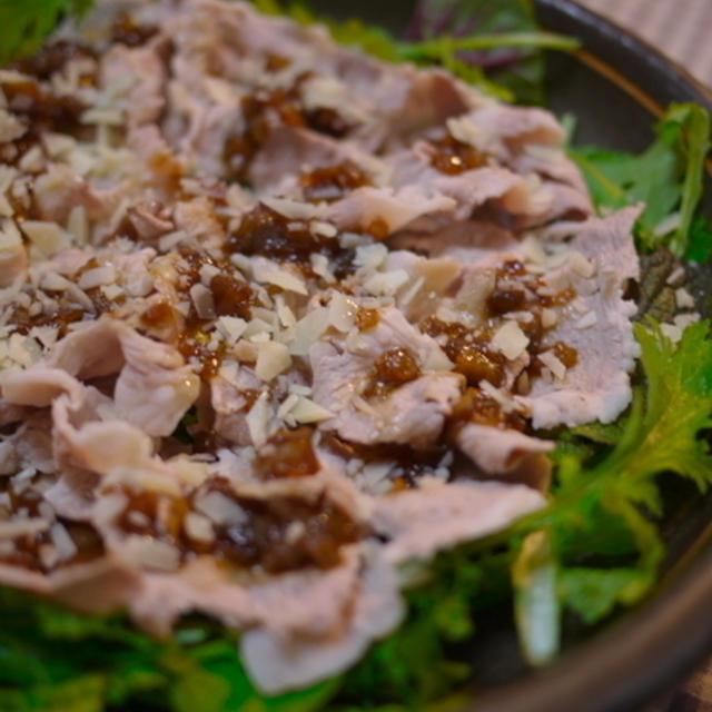 豚しゃぶのバルサミコ風味・サラダ仕立て