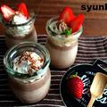 【簡単!!バレンタインに】勝手に3層*チョコレートプリン(オーブン不使用)