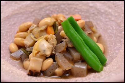 アサリと大豆の五目煮