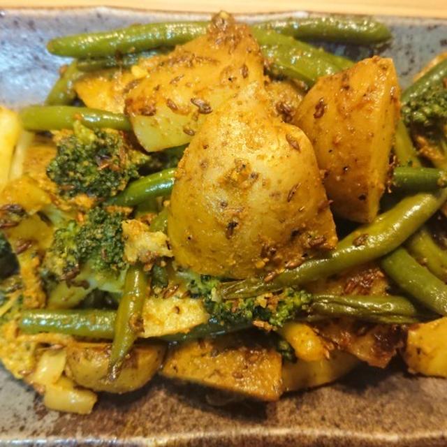 スパイスを適当に混ぜて作っても美味い、ジャガイモ・さやいんげん・ブロッコリーのサブジ